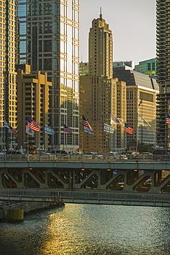 Bridge over Chicago River, Chicago, Illinois, United States, Chicago, Illinois, USA