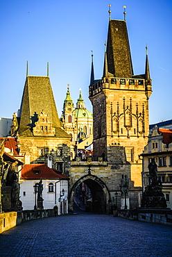 Buildings in Prague cityscape, Czech Republic, Prague, Czechoslovakia