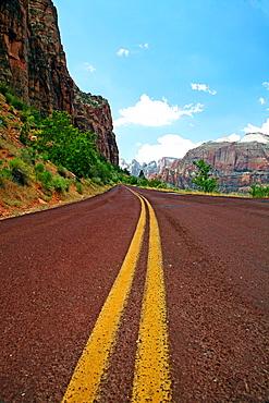 Empty mountain road, Zion, Utah, USA