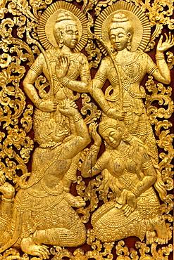 Religious Carvings On The Doors Of Wat Xieng Thong, Laos, Laos