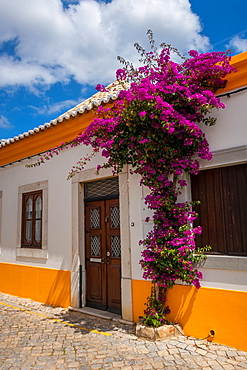 Picturesque street in Tavira, Algarve, Portugal