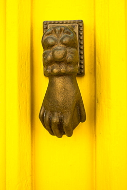 Door knocker in the form of a hand, Algarve, Portugal