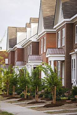 Rows Of New Townhomes, Norfolk, Virginia, United States