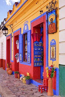 Colourful exterior of a souvenir shop, Mexico