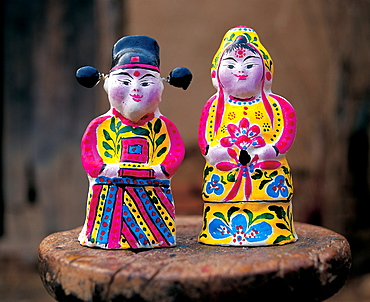 Clay figures from Huimin, Shandong