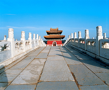 The Stele Pavilion in Qingdongling Tombs, Hebei