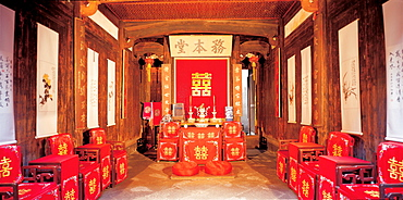 Interior of residential house in Shexian, Anhui