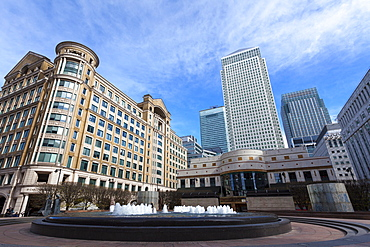Cabot Square, Canary Wharf, Docklands, London, England, United Kingdom, Europe