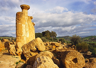 Ruins of the Temple of Heracles, Valley of the Temples, Tuscany, Italy