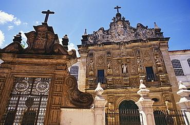 Facade Sao Francisco church, Salvador, Brazil