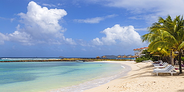 David's Beach Hotel, Big Sands beach at Belmont Bay, Union Island, The Grenadines, St. Vincent and The Grenadines, West Indies, Caribbean, Central America