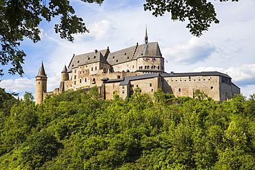 View of Vianden Castle, Vianden, Luxembourg, Europe