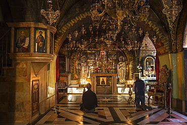Church of the Holy Sepulchre, Calvary (Golgotha), the place where Jesus was crucified, Old City, UNESCO World Heritage Site, Jerusalem, Israel, Middle East