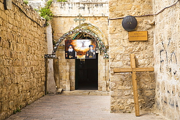 St. Helen Coptic Church, situated on the roof of the Church of the Holy Sepulchre, Station 9 on Via Dolorosa, Old City, UNESCO World Heritage Site, Jerusalem, Israel, Middle East