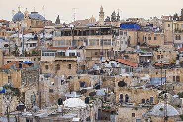 View of Muslim Quarter, Old City, UNESCO World Heritage Site, Jerusalem, Israel, Middle East