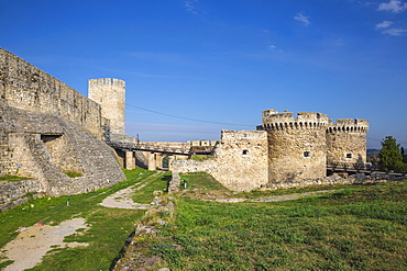 Zinden gate and towers, Belgrade Fortress, Kalemegdan Park, Belgrade, Serbia, Europe