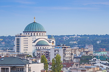View of St. Sava Orthodox Temple, Belgrade, Serbia, Europe