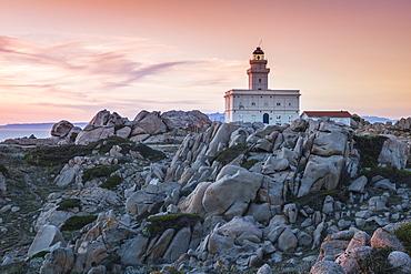 Lighthouse at Capo Testa, Santa Teresa Gallura, Sardinia, Italy, Mediterranean, Europe