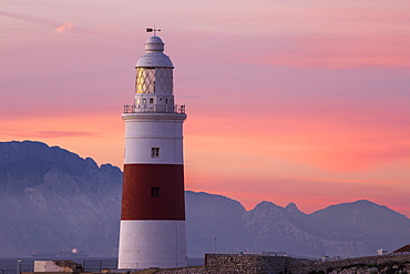 Europa Point Lighthouse, Gibraltar, Mediterranean, Europe