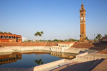 Hussainabad pond and Clock Tower, Lucknow, Uttar Pradesh, India, Asia
