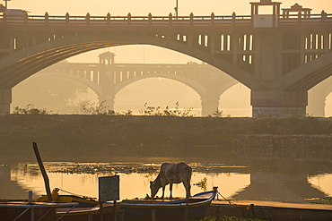 Bridge over Gomti River, Lucknow, Uttar Pradesh, India, Asia