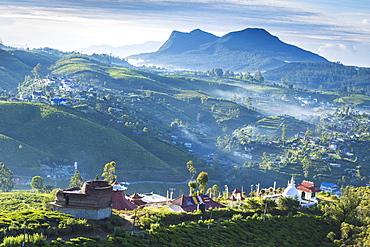 View of Sri Swarnagiri Temple, Nuwara Eliya, Central Province, Sri Lanka, Asia
