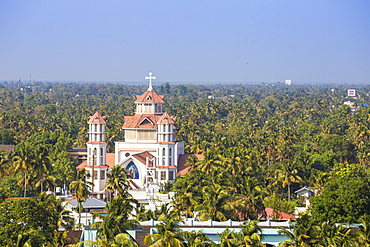 View of Infant Jesus Roman Catholic Latin Cathedral, Kollam, Kerala, India, Asia