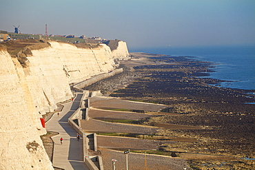 Chalk cliffs by Brighton Marina, Brighton, Sussex, England, United Kingdom, Europe