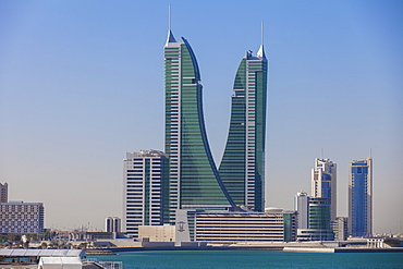 Bahrain Financial Harbour, Harbour Towers, Manama, Bahrain, Middle East