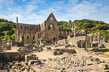 UK, Wales, Monmouthshire, Wye Valley, Tintern, Tintern Abbey