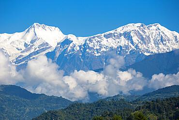 Nepal, Pokara, View of Himalayas