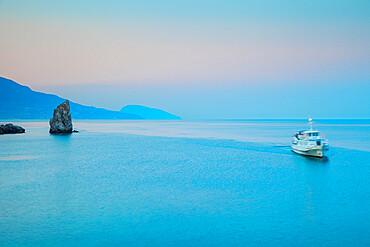Ukraine, Crimea, Yalta, 'The Sail' rock