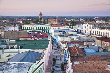 View of city looking towards La Gran Antilla and Iglesia Catedral de Nuestra Senora de la Candelaria, Camaguey, Camaguey Province, Cuba, West Indies, Caribbean, Central America