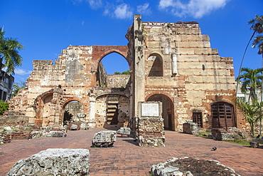 Ruinas del Hospital San Nicolas de Bari, Colonial Zone, UNESCO World Heritage Site, Santa Domingo, Dominican Republic, West Indies, Caribbean, Central America