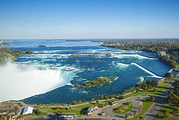 View of Horseshoe Falls, Niagara Falls, Niagara, border of New York State, and Ontario, Canada, North America
