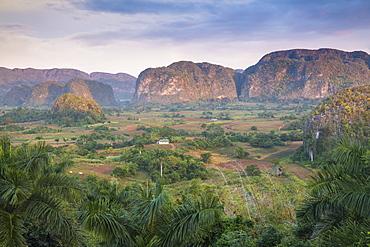 View of Vinales Valley, UNESCO World Heritage Site, Vinales, Pinar del Rio Province, Cuba, West Indies, Caribbean, Central America
