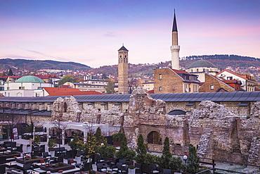 Taslihan, an ancient caravanserai, Bascarsija (The Old Quarter), Sarajevo, Bosnia and Herzegovina, Europe