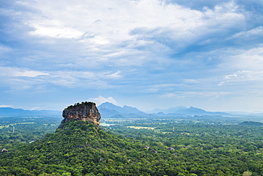Sigiriya Rock Fortress, UNESCO World Heritage Site, seen from Pidurangala Rock, Sri Lanka, Asia