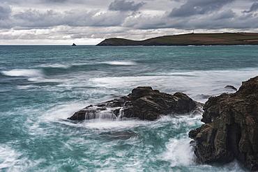 Trevose Head, seen from Constantine Bay, Cornwall, England, United Kingdom, Europe