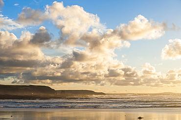 Constantine Bay at sunset, Cornwall, England, United Kingdom, Europe