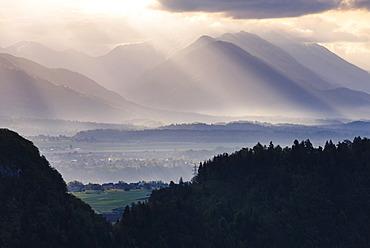 Sunrise, Julian Alps, Gorenjska, Upper Carniola Region, Slovenia, Europe