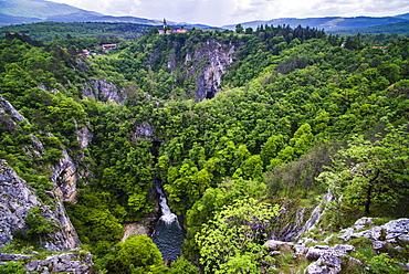 Velika Dolina (Big Valley), a town above the Skocjan Caves, in the Karst Region (Kras Region) of Slovenia, Europe