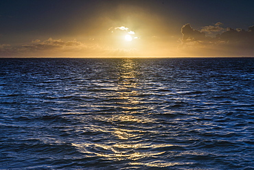 Sunrise on the tropical, pacific island of Rarotonga, Cook Islands, South Pacific, Pacific