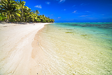 Beach at Titikaveka, Rarotonga, Cook Islands, South Pacific Ocean, Pacific