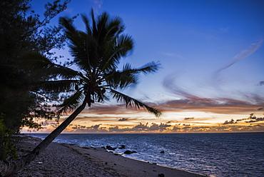 Beach outside Rumours Luxury Villas 6 and 7, Muri, Rarotonga, Cook Islands, South Pacific, Pacific