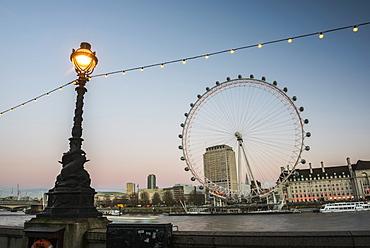 The London Eye Ferris Wheel (Millennium Wheel) seen from Westminster, London, England, United Kingdom, Europe
