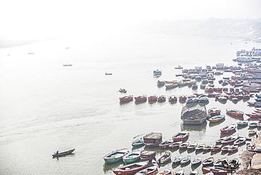 Boats on the River Ganges, Varanasi, Uttar Pradesh, India, Asia