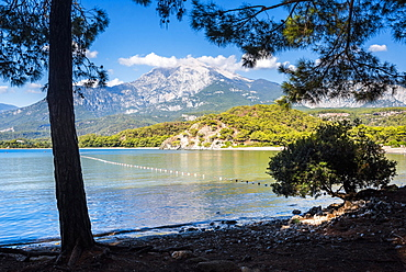 Bay at Phaselis near Kemer, Antalya Province, Mediterranean Coast, Turkey, Asia Minor, Eurasia