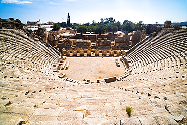 Myra Amphitheatre, the largest in Lycia, Demre, Antalya Province, Anatolia, Turkey, Asia Minor, Eurasia