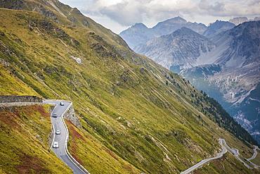 Stelvio Pass, South Tyrol side, Valtellina, Lombardy, Italy, Europe